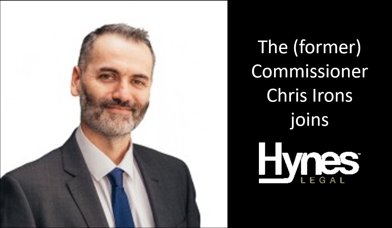 The (former) Commissioner Joins Hynes Legal